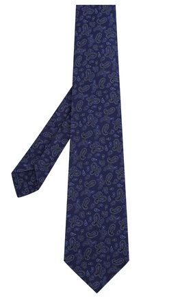 Мужской галстук из смеси шелка и шерсти KITON синего цвета, арт. UCRVKLC08F60 | Фото 2
