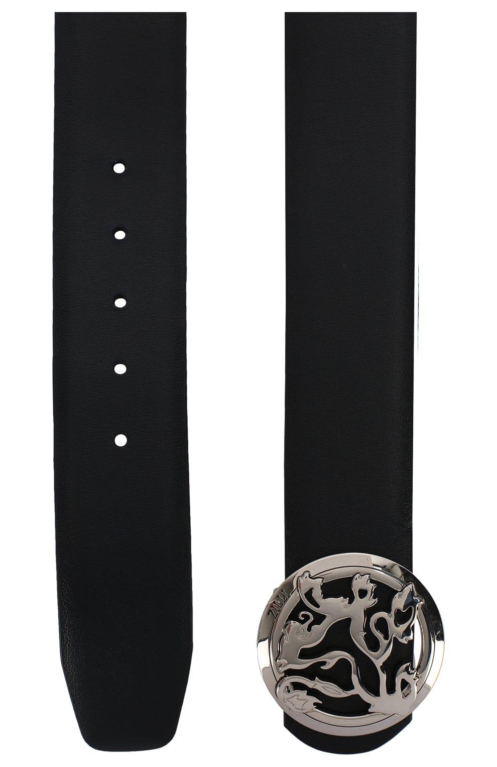Мужской кожаный ремень ZILLI темно-синего цвета, арт. MJL-CLAQE-01030/0035/120-130   Фото 2 (Случай: Формальный)
