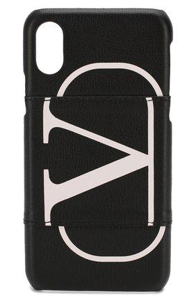 Мужской кожаный чехол для iphone x/xs VALENTINO черного цвета, арт. SY2P0379/PCR | Фото 1