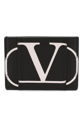 Кожаный футляр для кредитных карт Valentino Garavani VLOGO | Фото №1