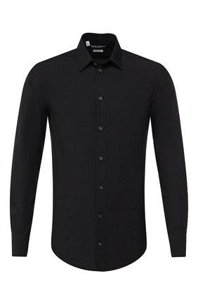 Мужская хлопковая сорочка DOLCE & GABBANA черного цвета, арт. G5EJ0T/FJ5F0 | Фото 1