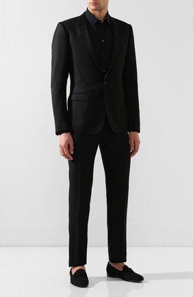 Мужская хлопковая сорочка DOLCE & GABBANA черного цвета, арт. G5EJ0T/FJ5F0 | Фото 2