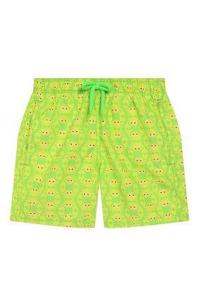 Детские плавки-шорты VILEBREQUIN зеленого цвета, арт. JIMC0B02 | Фото 1