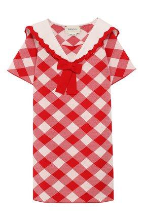 Женский шерстяное платье GUCCI красного цвета, арт. 580248/XKAVY | Фото 1