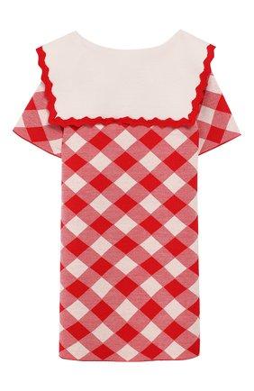 Женский шерстяное платье GUCCI красного цвета, арт. 580248/XKAVY | Фото 2