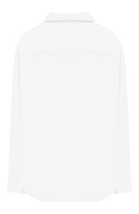 Детская хлопковая рубашка LORO PIANA белого цвета, арт. FAI6973 | Фото 2