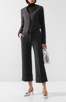 Женские шерстяные брюки LEMAIRE темно-серого цвета, арт. W 193 PA261 LF393 | Фото 2