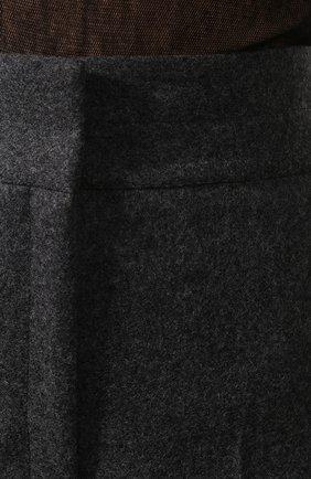 Женские шерстяные брюки LEMAIRE темно-серого цвета, арт. W 193 PA261 LF393 | Фото 5 (Материал внешний: Шерсть; Женское Кросс-КТ: Брюки-одежда; Материал подклада: Синтетический материал; Длина (брюки, джинсы): Укороченные; Статус проверки: Проверена категория)