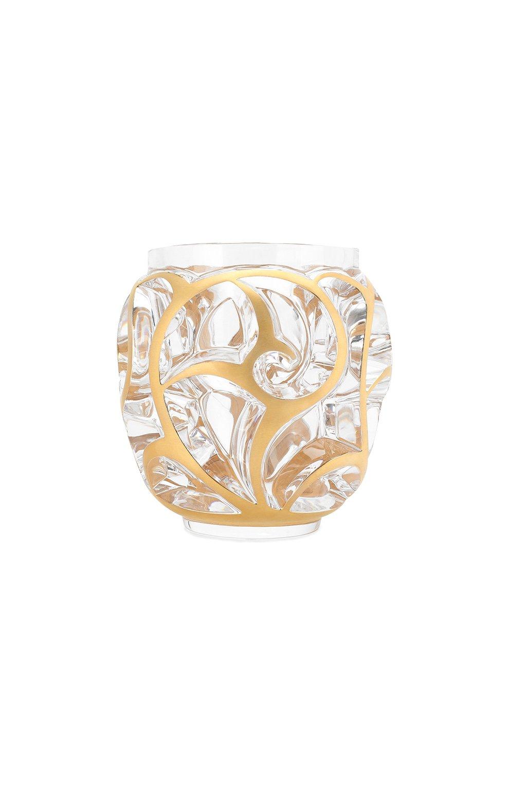 Мужского ваза tourbillons small LALIQUE золотого цвета, арт. 10683700   Фото 1