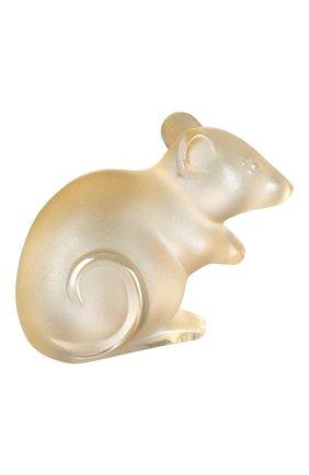 Мужская статуэтка мышка small LALIQUE золотого цвета, арт. 10686800 | Фото 1
