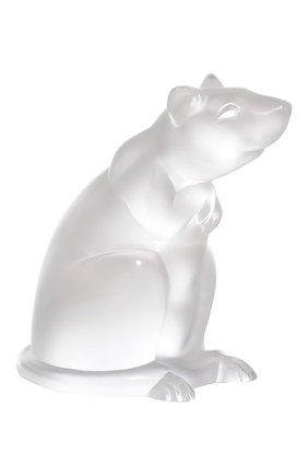 Мужская статуэтка крыса LALIQUE прозрачного цвета, арт. 1404000 | Фото 1