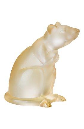 Мужская статуэтка крыса LALIQUE золотого цвета, арт. 10686200 | Фото 1
