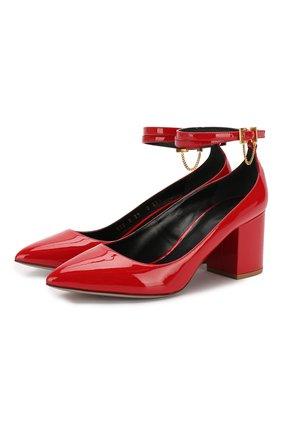 Женская кожаные туфли valentino garavani tiny chain VALENTINO красного цвета, арт. SW0S0S39/VNE | Фото 1