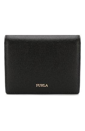 Женские кожаное портмоне babylon FURLA черного цвета, арт. PBA3/B30 | Фото 1