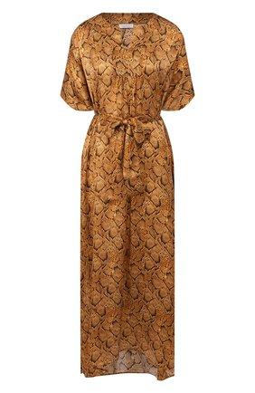 Женское шелковая туника EVA B.BITZER золотого цвета, арт. 29312952 | Фото 1
