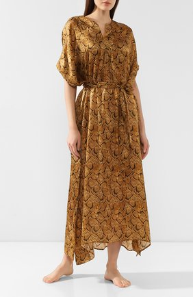 Женское шелковая туника EVA B.BITZER золотого цвета, арт. 29312952 | Фото 2