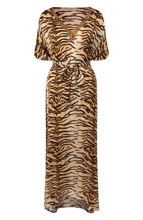 Женское шелковая туника EVA B.BITZER золотого цвета, арт. 29312552 | Фото 1