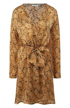 Женский шелковый халат EVA B.BITZER золотого цвета, арт. 29312963 | Фото 1