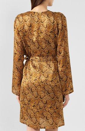 Женский шелковый халат EVA B.BITZER золотого цвета, арт. 29312963   Фото 4