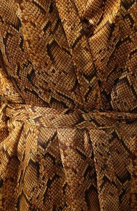 Женский шелковый халат EVA B.BITZER золотого цвета, арт. 29312963   Фото 5