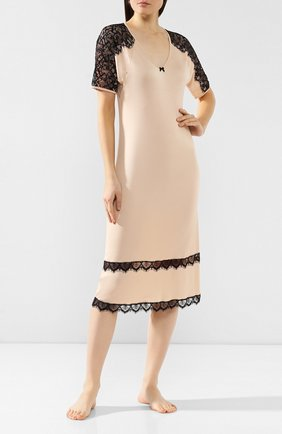 Женская сорочка FREE VOOGUE бежевого цвета, арт. 29307 | Фото 2