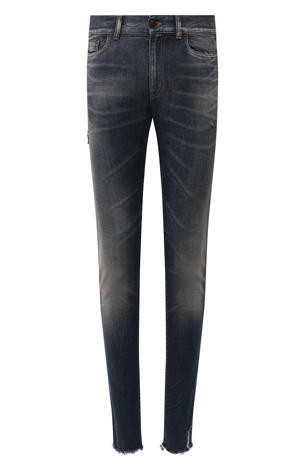 Мужские джинсы SAINT LAURENT синего цвета, арт. 602817/YD993 | Фото 1