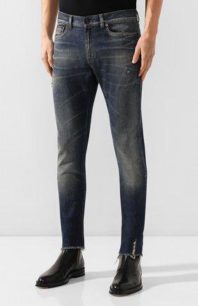 Мужские джинсы SAINT LAURENT синего цвета, арт. 602817/YD993 | Фото 3
