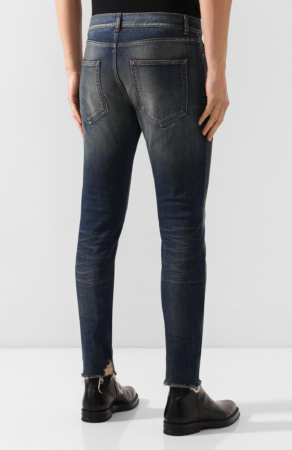 Мужские джинсы SAINT LAURENT синего цвета, арт. 602817/YD993 | Фото 4