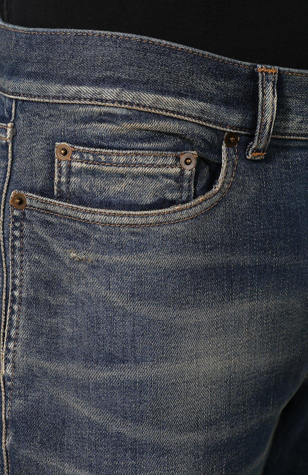 Мужские джинсы SAINT LAURENT синего цвета, арт. 602817/YD993 | Фото 5