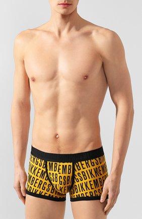Мужские хлопковые боксеры DIRK BIKKEMBERGS желтого цвета, арт. B4B4072 | Фото 2