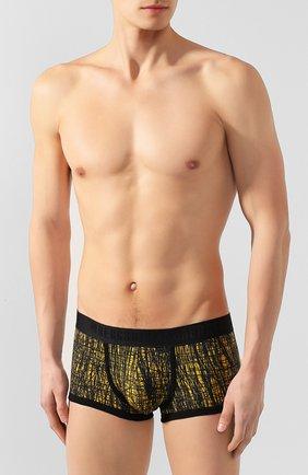 Мужские хлопковые боксеры DIRK BIKKEMBERGS желтого цвета, арт. B4B4071 | Фото 2