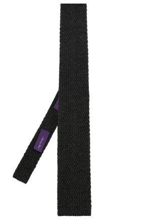 Мужской кашемировый галстук RALPH LAUREN серого цвета, арт. 791761047 | Фото 2