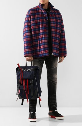 Мужской текстильный рюкзак  valentino garavani vltn city VALENTINO темно-синего цвета, арт. SY2B0821/QSF | Фото 2
