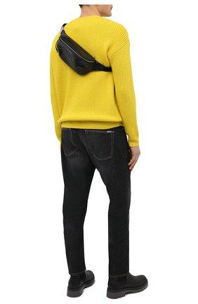 Мужская кожаная поясная сумка SAINT LAURENT черного цвета, арт. 505671/DZEKE | Фото 3
