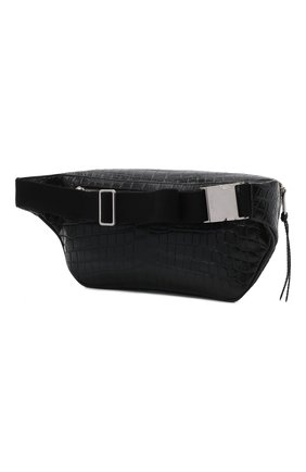 Мужская кожаная поясная сумка SAINT LAURENT черного цвета, арт. 505671/DZEKE | Фото 4