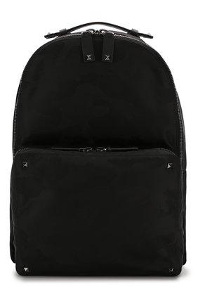 Мужской текстильный рюкзак valentino garavani camouflage VALENTINO черного цвета, арт. SY2B0340/NAI | Фото 1