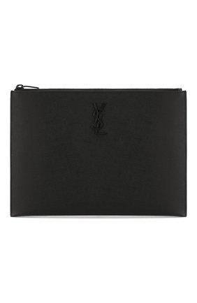 Мужская кожаный футляр для документов SAINT LAURENT черного цвета, арт. 453249/BTY0U | Фото 1