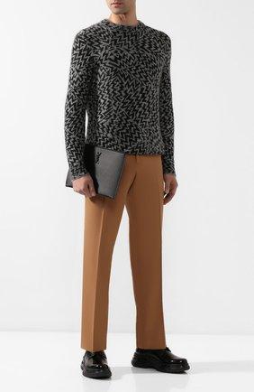 Мужская кожаный футляр для документов SAINT LAURENT черного цвета, арт. 453249/BTY0U | Фото 2