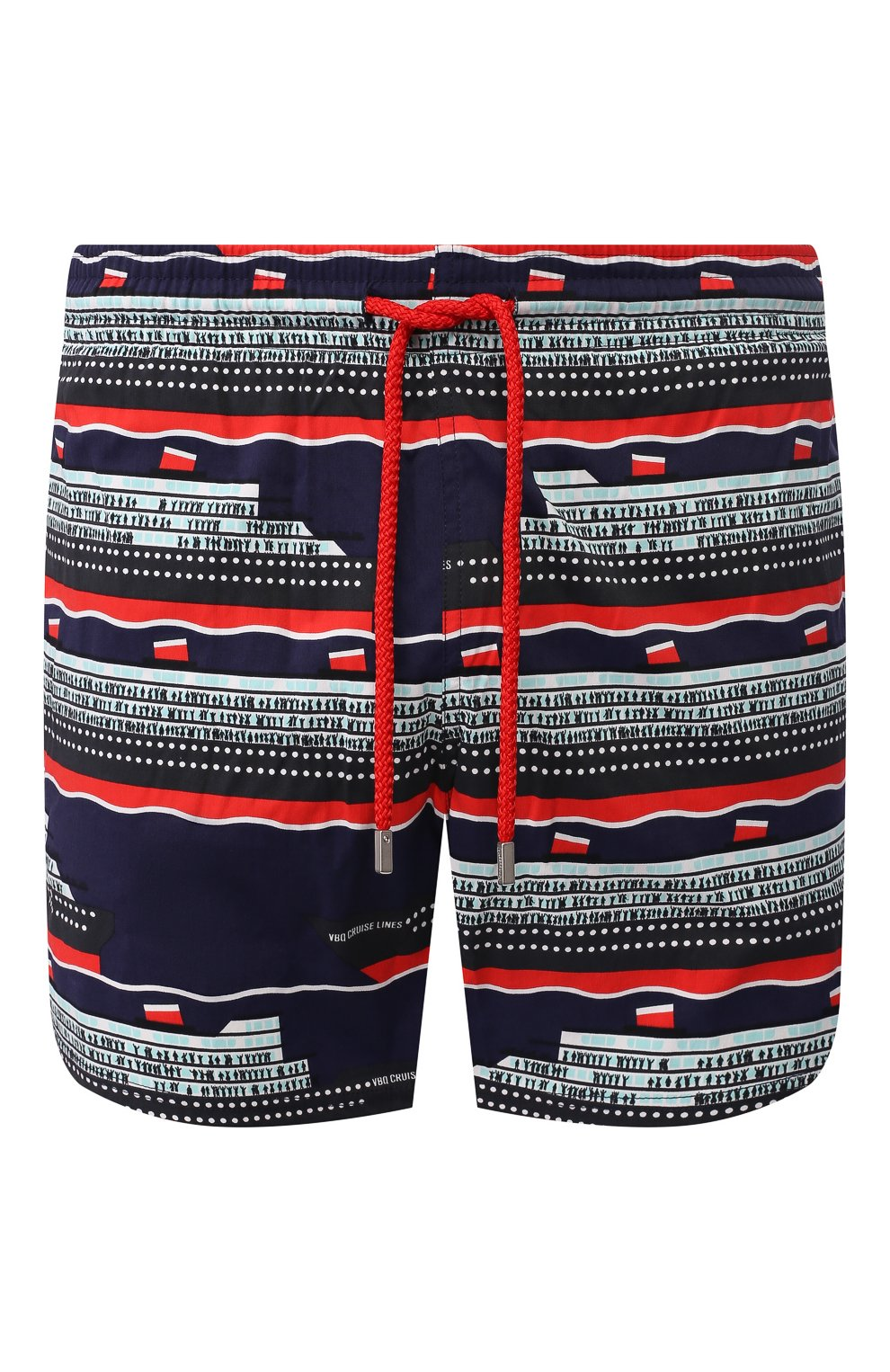 Мужские плавки-шорты VILEBREQUIN темно-синего цвета, арт. MSOC0F00   Фото 1 (Кросс-КТ: Пляж; Материал внешний: Синтетический материал)