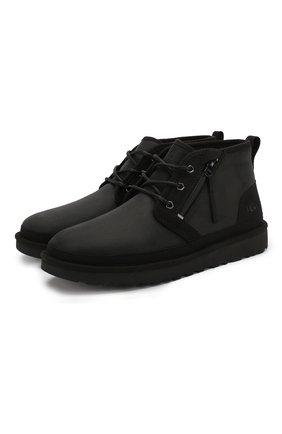 Мужские кожаные ботинки neumel zip UGG черного цвета, арт. 1103883_BTNL | Фото 1
