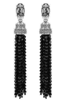 Женские серьги-клипсы OSCAR DE LA RENTA черного цвета, арт. 0J106BLD | Фото 1