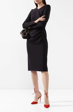 Женская замшевые туфли GIANVITO ROSSI красного цвета, арт. G40112.15RIC.CAMTABS | Фото 2