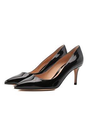 Женская кожаные туфли gianvito 70 GIANVITO ROSSI черного цвета, арт. G26770.70RIC.VERNER0 | Фото 1