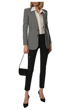 Женская замшевые туфли gianvito 70 GIANVITO ROSSI черного цвета, арт. G26770.70RIC.CAMNER0 | Фото 2