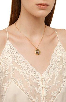 Женская кулон на цепочке HYPSO золотого цвета, арт. L0CKET MINI 2 CHARMS   Фото 2