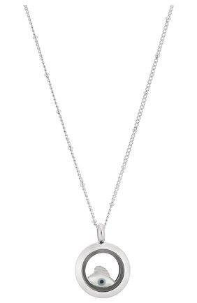 Женская кулон на цепочке HYPSO серебряного цвета, арт. L0CKET MINI SILVER C0L0R   Фото 2