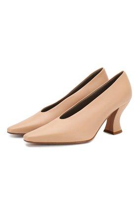 Женская кожаные туфли BOTTEGA VENETA светло-бежевого цвета, арт. 608839/VBSD0 | Фото 1