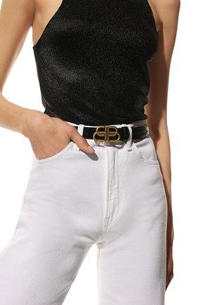 Женский кожаный ремень BALENCIAGA черного цвета, арт. 581690/1LR04 | Фото 2