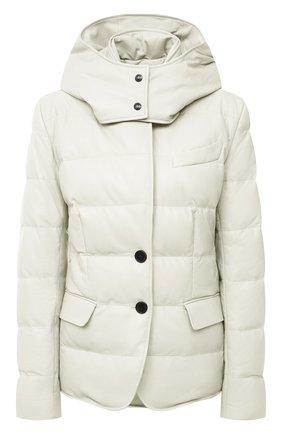Женский кожаная куртка TOM FORD белого цвета, арт. GIL418-LEX217 | Фото 1