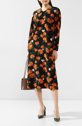 Женское шелковое платье ESCADA черного цвета, арт. 5032260 | Фото 2